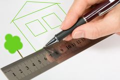 Green home project Stock Photo