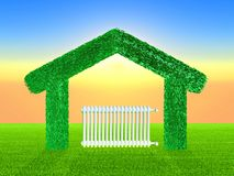 Green home Royalty Free Stock Photos