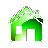 Green Home Sign Icon Royalty Free Stock Photos