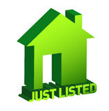 Green home sign, Real Estate Concept royalty free illustration