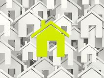 Green home symbol Royalty Free Stock Images