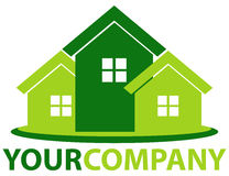 Green home. Vector illustration of green home logo Stock Photography