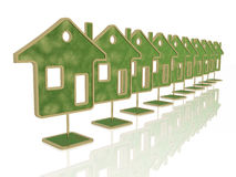 Green homes Stock Images