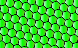 Green honeycomb background Royalty Free Stock Images