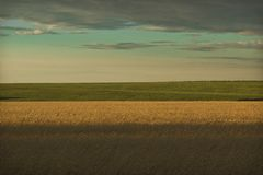 Green horizon Royalty Free Stock Photography