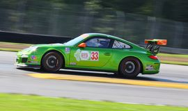 Green Hornet Porsche racing Royalty Free Stock Images