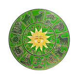 Green horoscope wheel Stock Photos