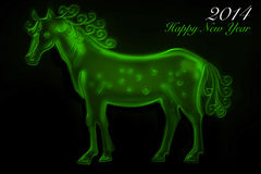 Green Horse 2014 Royalty Free Stock Photo