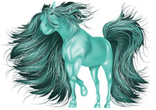 Green horse Stock Photography