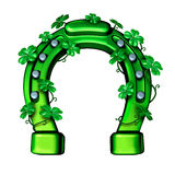 Green Horseshoe Stock Image