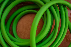 Green hose Stock Photo
