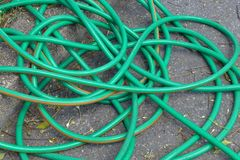 Green hose Stock Images