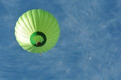 Green Hot Air Balloon Stock Photography