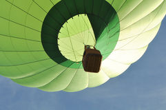 Green Hot Air Balloon Close Up Stock Photography