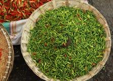 Green hot chili Royalty Free Stock Photos