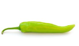 Green hot chili peppe Stock Photos