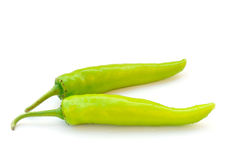 Green hot chili peppe Stock Image