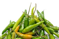 Green hot chili peppers pattern Stock Images