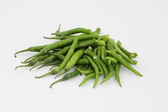 Green Hot Chilli Stock Photography