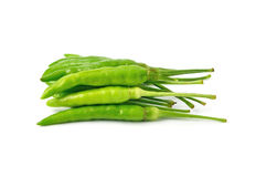 Green hot chilli peppers Royalty Free Stock Photo