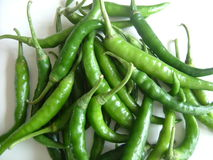 Green hot chilly Stock Images