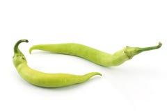 Green hot pepper Stock Photography