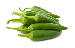 Green hot pepper in a side view Stock Photo