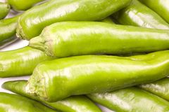 Green Hot Peppers Royalty Free Stock Photos