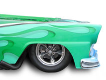 Green hot rod Royalty Free Stock Image