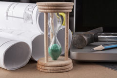 Green Hourglass Stock Photo