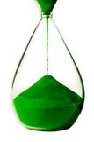 Green hourglass on white background. Stock Photography