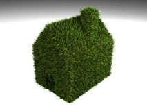 Green House. A 3d conceptual illustration of a green house Stock Photography
