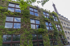 `Green House` on the Branly Embankment in Paris. Royalty Free Stock Photo