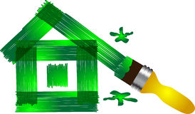 Green house and brush Royalty Free Stock Photography