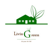 Green house business logo. Business concept for green living Royalty Free Stock Photo