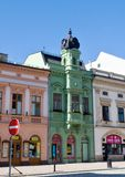 Green house  in the center of Hranice - Czech republic Stock Photo