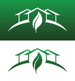 Green House Concept Icons Both Solid and Reversed royalty free illustration