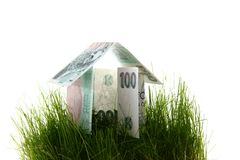 Green house from the czech money Royalty Free Stock Photo