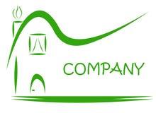 Green House Estate Logo Stock Photo
