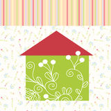 Green house floral background Royalty Free Stock Images