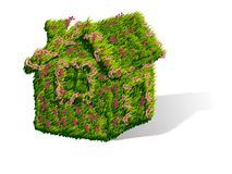 Green house with flowers Royalty Free Stock Photography