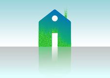 Green house , home icon , bio ecology ,   Royalty Free Stock Photography