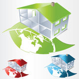 Green house icon Royalty Free Stock Photos