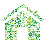 green house icon Stock Photos