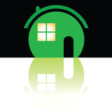 Green house icon art illustration Royalty Free Stock Photos