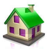 Green house icon Stock Photography