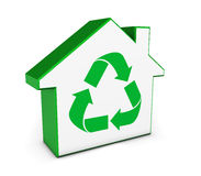 Green House Icon Recycling Symbol Stock Images