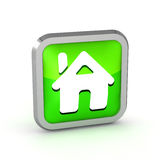 Green house icon Stock Images
