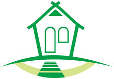 Green House illustration Stock Images