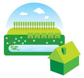Green house illustration Stock Photo